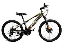 "Велосипед Unicorn - Brisk 24"" размер рамы 15"" желтый, фото 3"