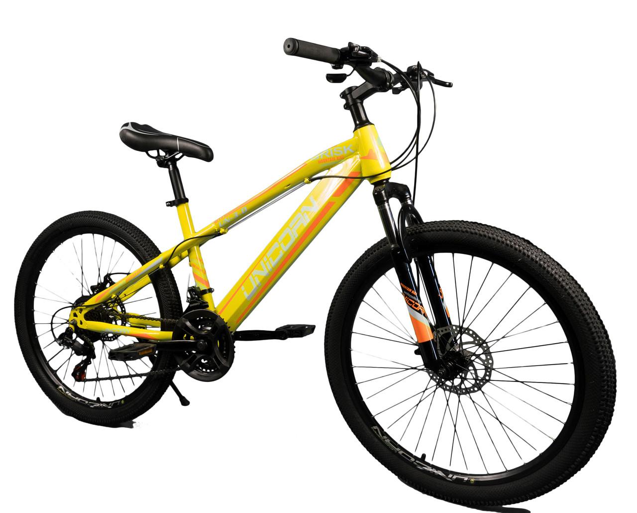 """Велосипед Unicorn - Brisk 24"""" размер рамы 15"""" желтый"""