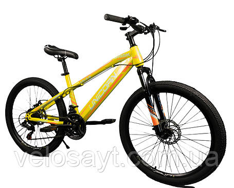 "Велосипед Unicorn - Brisk 24"" размер рамы 15"" желтый, фото 2"