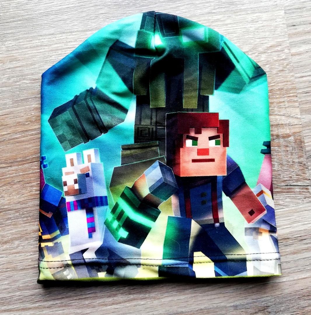 Детская шапочка  Minecraft Майнкрафт одинарная
