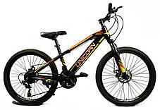 """Велосипед Unicorn - Brisk 24"""" розмір рами 15"""" чорний з жовтим, фото 2"""