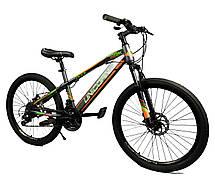 """Велосипед Unicorn - Brisk 24"""" розмір рами 15"""" чорний з жовтим, фото 3"""