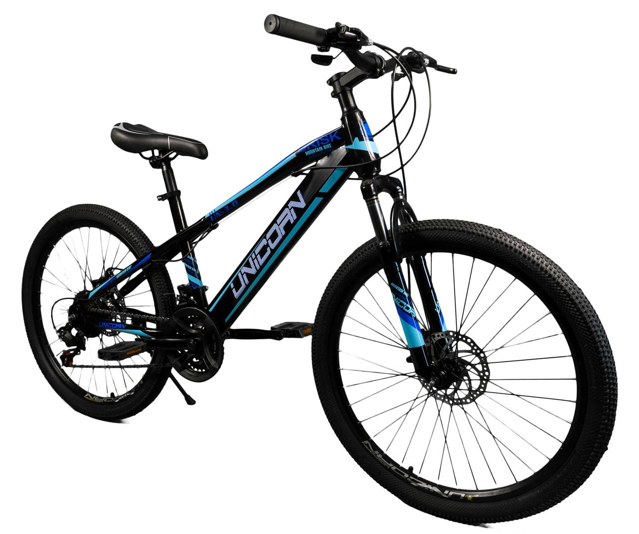 """Велосипед Unicorn - Brisk 24"""" розмір рами 15"""" чорний"""