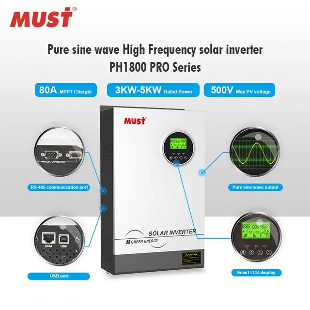 Гибридный инвертор MUST PH18-5248 PRO