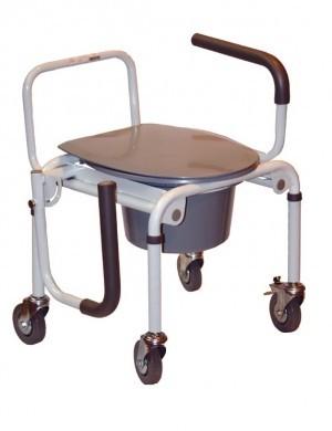 Стул для туалета на колесах с откидным подлокотником OSD