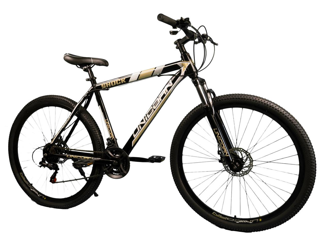 """Велосипед Unicorn - Shock 29"""" размер рамы 17"""" черно-золотистый"""