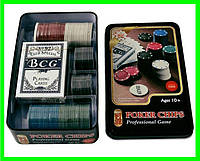 Набор Для Покера на 100 фишек в Металлическом Боксе