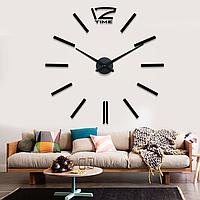 Великі креативні настінні 3Д годинники 3D годинник DIY Clock 70-150см, фото 1