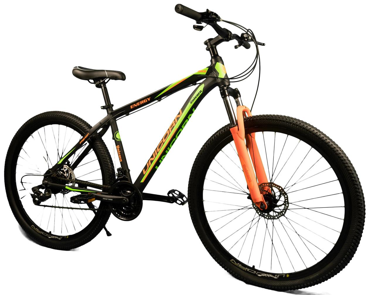 """Спортивный велосипед Unicorn - Energy 29"""" дюймов 20 Рама Алюминий черно-зеленый"""