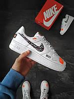Мужские кроссовки Nike Air Force Just Do It белые 44 размер, фото 1