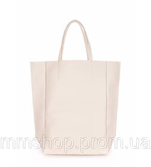 Сумка женская кожаная POOLPARTY Big Soho Leather Soho Bag молочная, фото 1