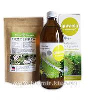 Сок гравиола (гуанабана) + чай гуанабана