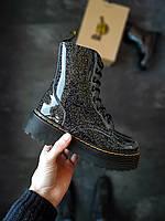 Женские зимние ботинки Dr.Martens Jadon Галактика с мехом, фото 1