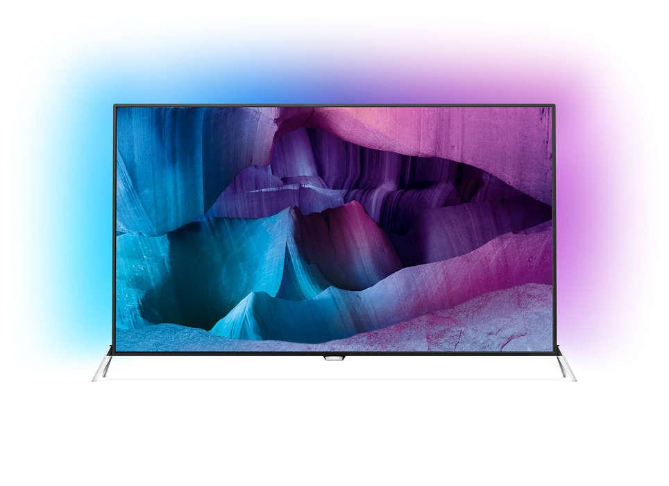 Телевизор Philips 55PUS7600/12 (1400Гц, Ultra HD 4K, Smart, Wi-Fi, 3D)