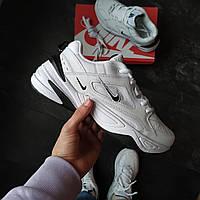 Чоловічі кросівки Nike M2K Tekno (білі чорний найк), фото 1