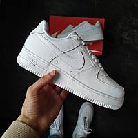 Чоловічі кросівки Nike Air Force 1 білі, фото 1