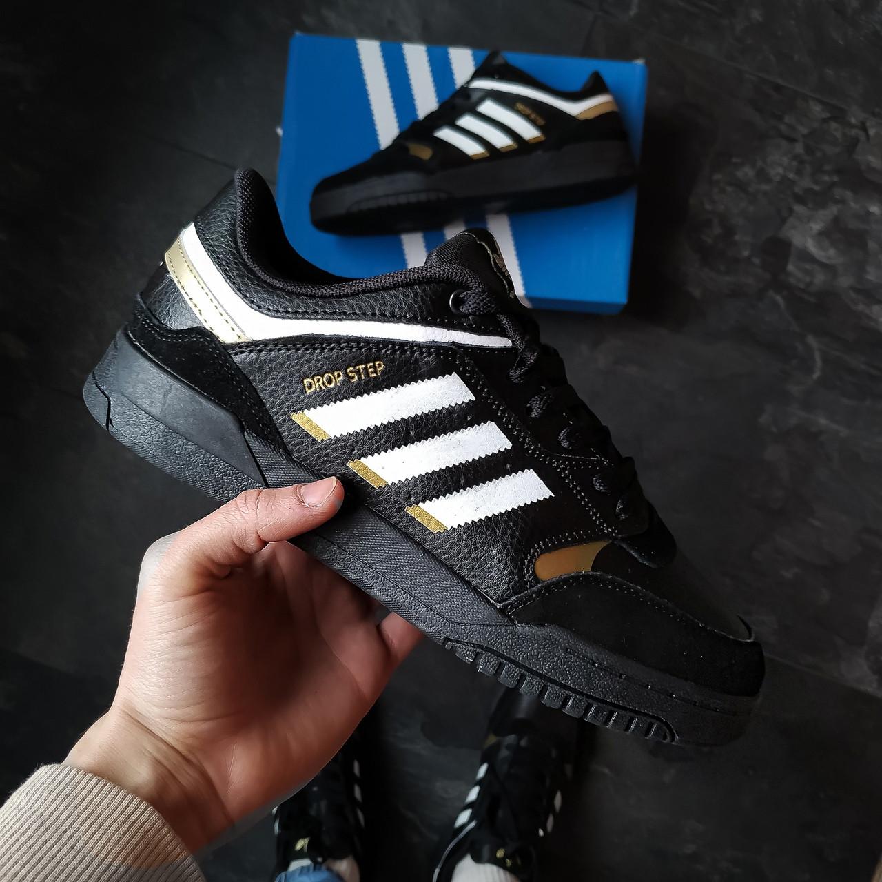 Мужские кроссовки Adidas Drop Step (черные)