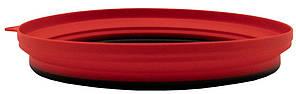 Тарелка Tramp плоская силиконовая с пластиковым дном терракот 1070 мл TRC-124