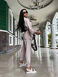 Летний костюм женский с рубашкой приталенной и джоггерами (р. 42-46) 71101803, фото 6