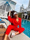 Летний костюм женский с рубашкой приталенной и джоггерами (р. 42-46) 71101803, фото 8