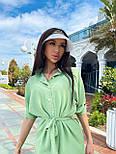 Летний костюм женский с рубашкой приталенной и джоггерами (р. 42-46) 71101803, фото 10