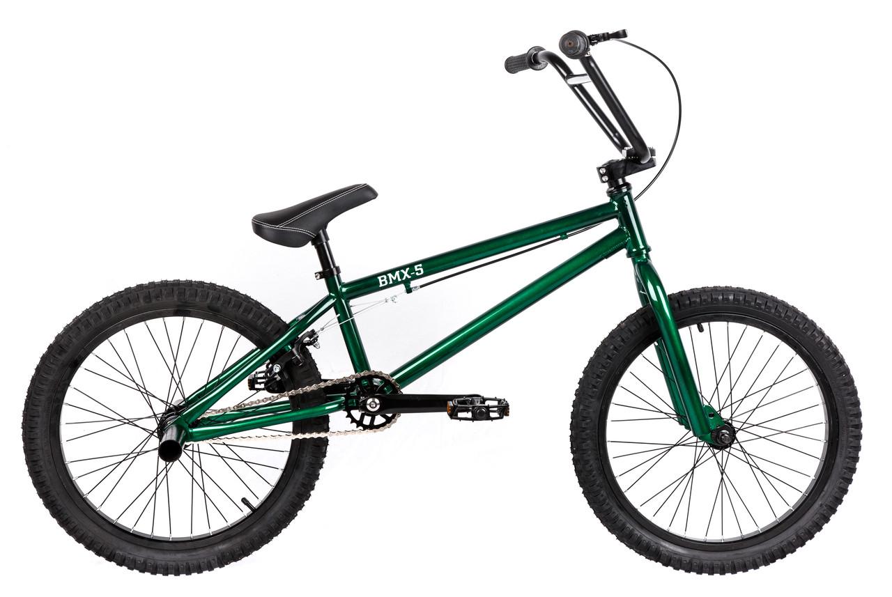 Трюковий велосипед ВМХ-5 20 ДЮЙМІВ зелений