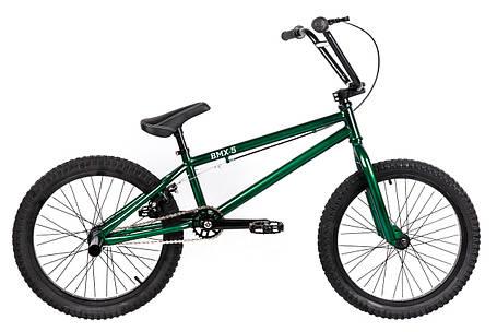 Трюковий велосипед ВМХ-5 20 ДЮЙМІВ зелений, фото 2