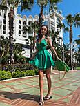 Шелковое короткое платье с расклешенной юбкой и открытой спиной (р. S, M) 71032455, фото 6