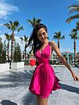 Шелковое короткое платье с расклешенной юбкой и открытой спиной (р. S, M) 71032455, фото 3