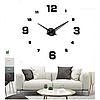 Большие настенные 3D часы DIY Clock NEW с цифрами, кварцевые, самоклеящееся 60-120 см