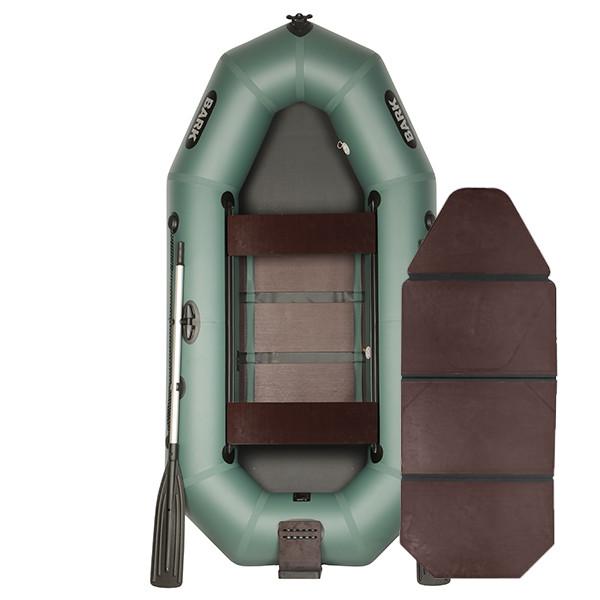 Надувний човен ПВХ BARK B-260ND слань-книжка пересувними сидіннями