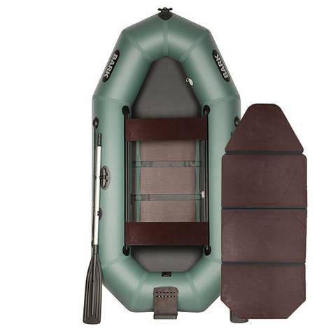 Надувний човен ПВХ BARK B-260ND слань-книжка пересувними сидіннями, фото 2