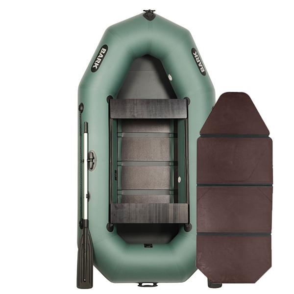 Надувная лодка ПВХ BARK В-270D слань-книжка и передвижными сиденьями