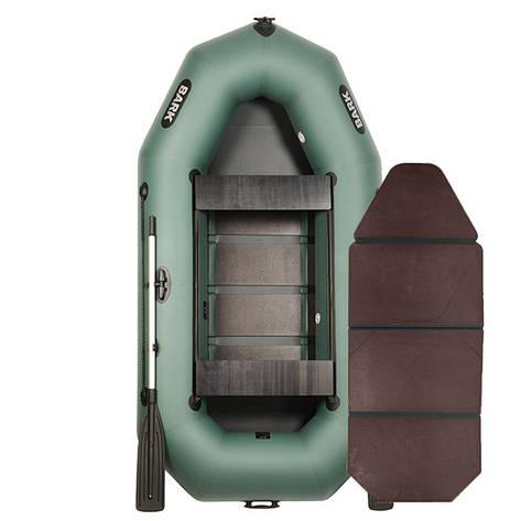 Надувная лодка ПВХ BARK В-270D слань-книжка и передвижными сиденьями, фото 2