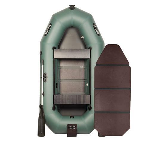 Надувная лодка ПВХ BARK В-270ND слань-книжка передвижными сиденьями, фото 2