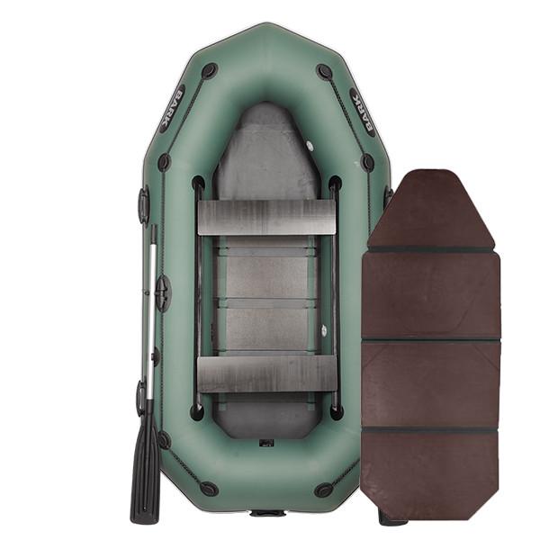 Надувная лодка ПВХ BARK В-270PD слань-книжка привальный брус передвижные сиденья