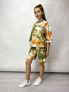 Яркий  костюм для девочки Тай Дай , р-ры 122-140