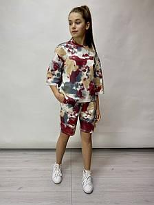Яркий  костюм для девочки Тай Дай , р-ры 146-164