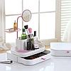 Настільний органайзер для косметики з дзеркалом 7009 dresscase with mirrow, органайзер косметичка