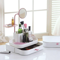 Настільний органайзер для косметики з дзеркалом 7009 dresscase with mirrow, органайзер косметичка, фото 1