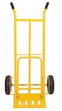 Тележка платформенная ручная грузовая, 180 кг, 1240х565х630 мм. Тележка ручная, фото 5