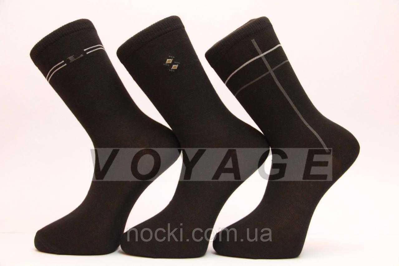 Чоловічі шкарпетки високі стрейчеві STYLE-LUXE М10-111 41-46 чорний