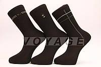 Мужские носки высокие стрейчевые STYLE-LUXE М10-111 41-46 черный