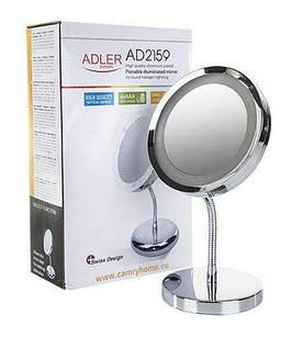 Косметичне дзеркало Adler AD 2159 LED 3x zoom