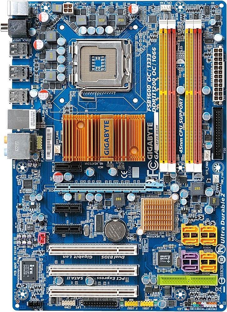 Плата S775 GIGABYTE GA-EP35-DS3R на P35 Chip на DDR2 Розуміє БУДЬ 2-4 ЯДРА ПРОЦЫ 775 Процы