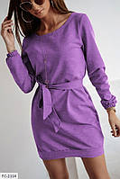 Туніка жіноча модна з трикотажу з поясом р-ри 42-44,46-48 арт 029