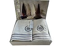 Набор полотенец Maison D'or Delon Ecru махровые 30-50 см,50-100 см,70-140 см кремовый