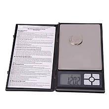 Карманные ювелирные электронные весы UKC AG 0.01-500 гр Big 12000 Черный 20053100297, КОД: 1821821