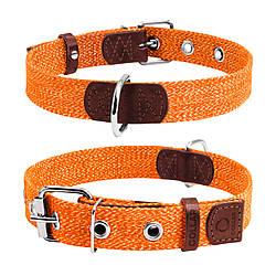Ошейник для собак CoLLaR х/б тесьма, оранжевый