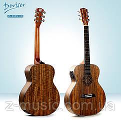 Гитара электроакустическая 3/4 Deviser LS-180N-EQ (36 дюйма)